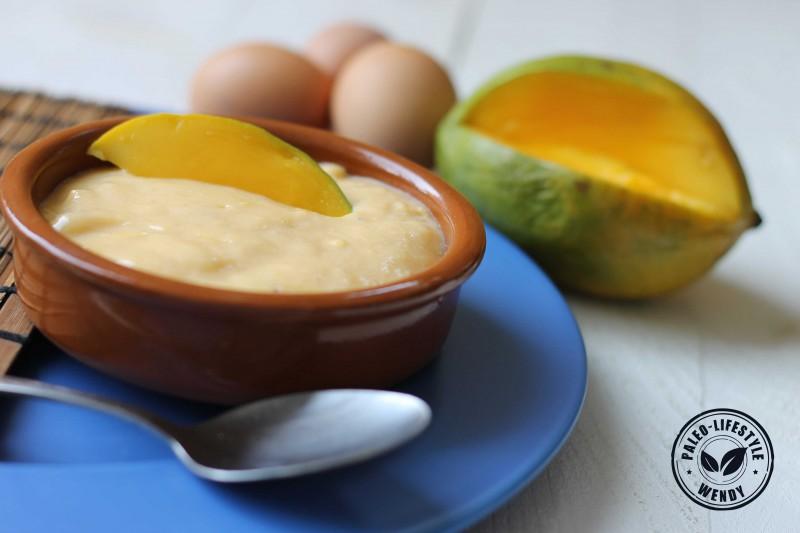 Paleo mango custard