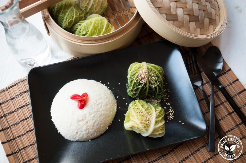 Paleo recept: Koolbladeren gevuld met gekruid kipgehakt