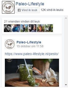 Volg Paleo-Lifestyle op Facebook