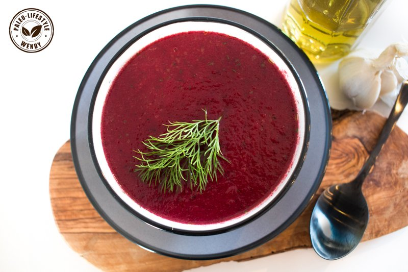 Paleo recept - bietensoep met rode ui