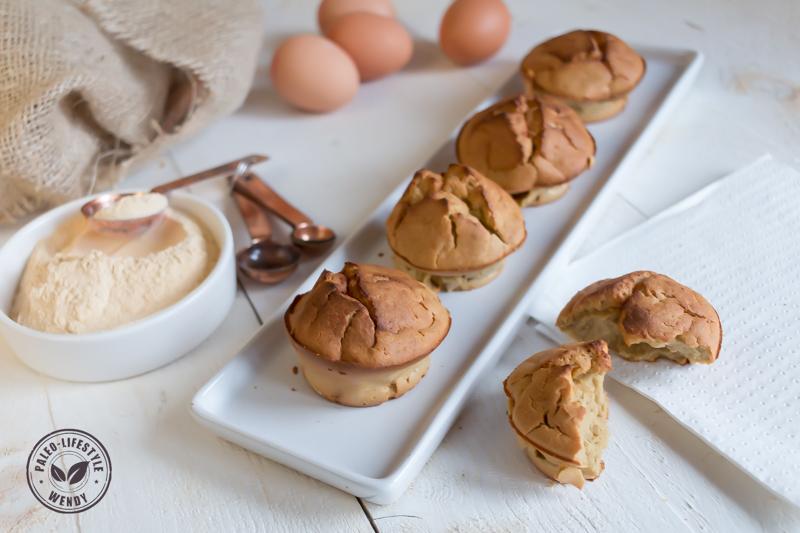 Cakejes van zoete aardappelmeel