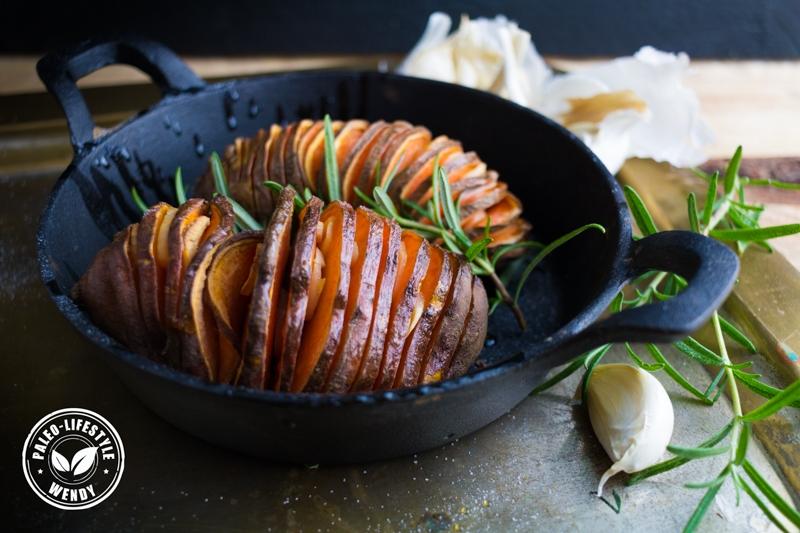 Paleo recept - Hasselback aardappels